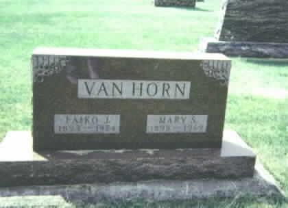 VAN HORN, MARY S. - Franklin County, Iowa | MARY S. VAN HORN