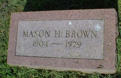 BROWN, MASON H. - Fremont County, Iowa | MASON H. BROWN