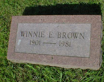 BROWN, WINNIE E. - Fremont County, Iowa | WINNIE E. BROWN