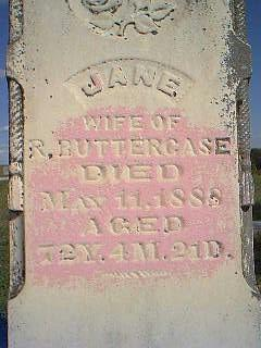 BUTTERCASE, JANE - Fremont County, Iowa | JANE BUTTERCASE