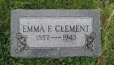 CLEMENT, EMMA F. - Fremont County, Iowa | EMMA F. CLEMENT