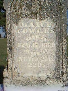 COWLES, MARY - Fremont County, Iowa | MARY COWLES