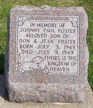 FOSTER, JOHNNY PAUL - Fremont County, Iowa | JOHNNY PAUL FOSTER