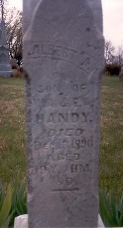 HANDY, ALBERT A. - Fremont County, Iowa   ALBERT A. HANDY