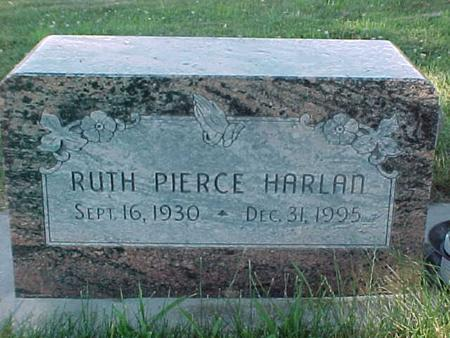 HARLAN, RUTH  PIERCE - Fremont County, Iowa | RUTH  PIERCE HARLAN
