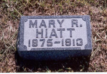 HILL HIATT, MARY R. - Fremont County, Iowa | MARY R. HILL HIATT