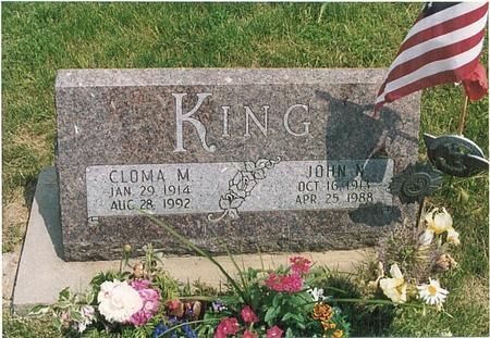 KING, CLOMA M - Fremont County, Iowa | CLOMA M KING