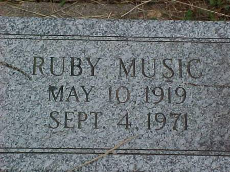 MUSIC, RUBY - Fremont County, Iowa | RUBY MUSIC
