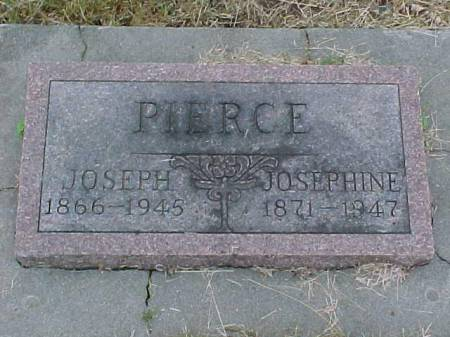PIERCE, JOSEPH AND JOSEPHINE - Fremont County, Iowa | JOSEPH AND JOSEPHINE PIERCE