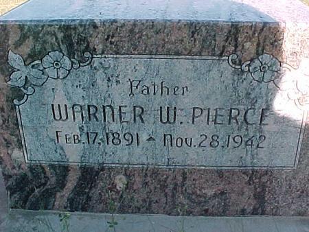 PIERCE, WARNER W. - Fremont County, Iowa | WARNER W. PIERCE