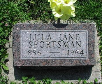 CLEMENT SPORTSMAN, LULA JANE - Fremont County, Iowa | LULA JANE CLEMENT SPORTSMAN