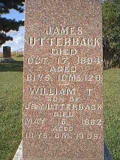 UTTERBACK, WILLIAM - Fremont County, Iowa | WILLIAM UTTERBACK