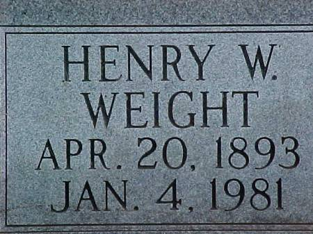 WEIGHT, HENRY - Fremont County, Iowa | HENRY WEIGHT