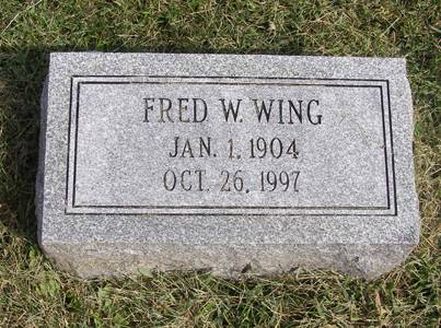 WING, FRED W - Fremont County, Iowa | FRED W WING