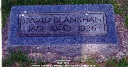 BLANSHAN, DAVID - Greene County, Iowa | DAVID BLANSHAN