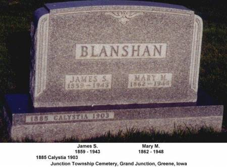BLANSHAN, MARY M. - Greene County, Iowa | MARY M. BLANSHAN
