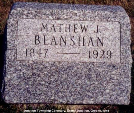 BLANSHAN, MATHEW J. - Greene County, Iowa | MATHEW J. BLANSHAN