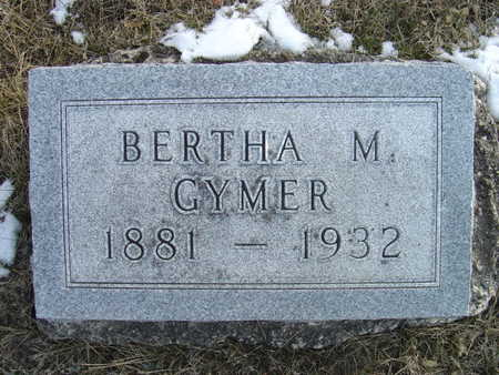 DAVIS GYMER, BERTHA M. - Greene County, Iowa | BERTHA M. DAVIS GYMER