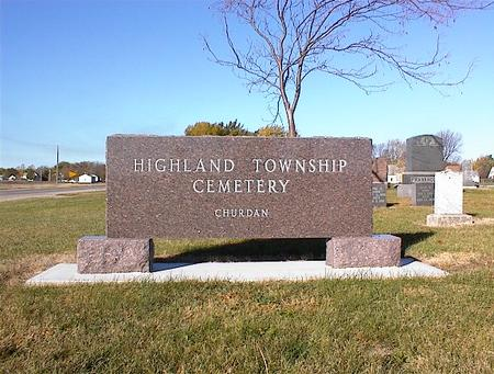 HIGHLAND TWP., CEMETERY - Greene County, Iowa | CEMETERY HIGHLAND TWP.