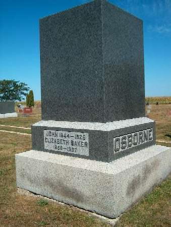 BAKER OSBORNE, ELIZABETH - Greene County, Iowa | ELIZABETH BAKER OSBORNE