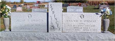 SPRINGER, SR., HAROLD - Greene County, Iowa | HAROLD SPRINGER, SR.
