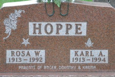 HOPPE, KARL A. - Grundy County, Iowa | KARL A. HOPPE