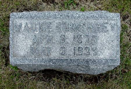 HUMPHREY, MAUDE - Grundy County, Iowa | MAUDE HUMPHREY