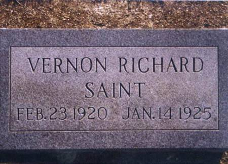 SAINT, VERNON RICHARD - Grundy County, Iowa | VERNON RICHARD SAINT