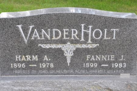 VANDERHOLT, HARM A. - Grundy County, Iowa | HARM A. VANDERHOLT