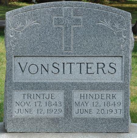 VONSITTERS, TRINTJE - Grundy County, Iowa   TRINTJE VONSITTERS