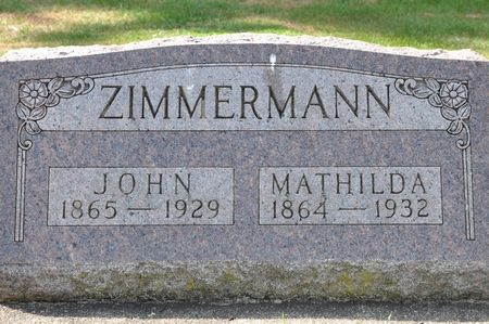 ZIMMERMANN, JOHN - Grundy County, Iowa | JOHN ZIMMERMANN