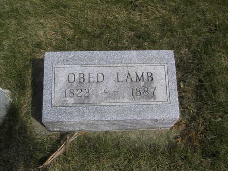 LAMB, OBED - Guthrie County, Iowa   OBED LAMB