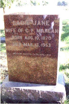 ARTIST MAREAN, SADIE JANE - Guthrie County, Iowa | SADIE JANE ARTIST MAREAN