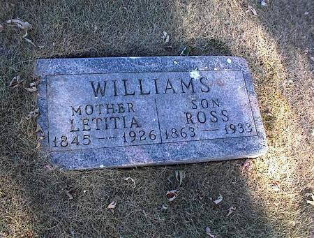 WILLIAMS, LETITIA - Guthrie County, Iowa | LETITIA WILLIAMS