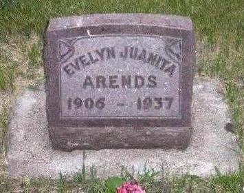 ARENDS, EVELYN JUANITA - Hamilton County, Iowa   EVELYN JUANITA ARENDS