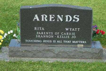 ARENDS, WYATT JR. FAMILY STONE - Hamilton County, Iowa | WYATT JR. FAMILY STONE ARENDS