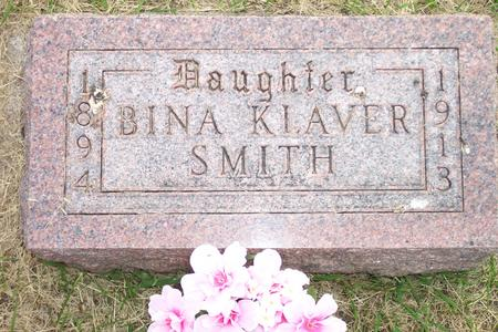 KLAVER SMITH, BINA - Hamilton County, Iowa | BINA KLAVER SMITH