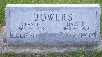 BOWERS, MARY E. - Hamilton County, Iowa | MARY E. BOWERS