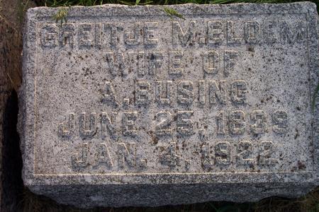 BUSING, GREITJE M. - Hamilton County, Iowa | GREITJE M. BUSING