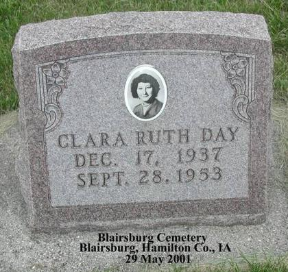 DAY, CLARA RUTH - Hamilton County, Iowa | CLARA RUTH DAY