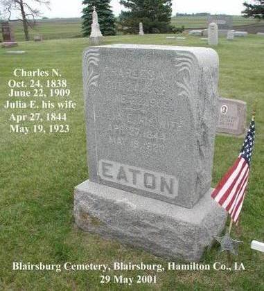 EATON, CHARLES N. - Hamilton County, Iowa | CHARLES N. EATON