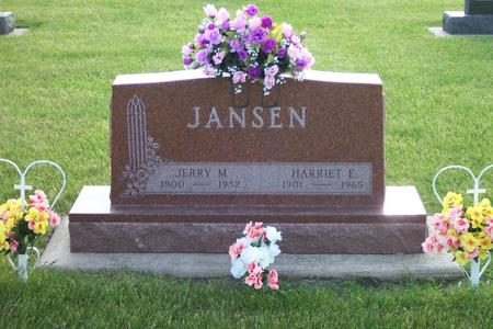 JANSEN, HARRIET E. - Hamilton County, Iowa | HARRIET E. JANSEN