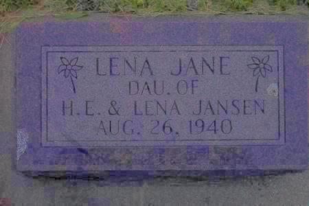 JANSEN, LENA JANE - Hamilton County, Iowa | LENA JANE JANSEN