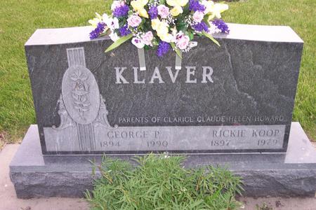 KLAVER, GEORGE P. - Hamilton County, Iowa | GEORGE P. KLAVER