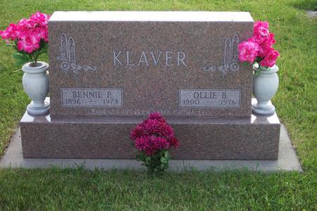 KLAVER, OLLIE B - Hamilton County, Iowa | OLLIE B KLAVER