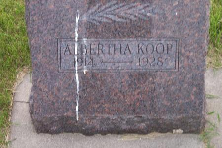 KOOP, ALBERTHA - Hamilton County, Iowa | ALBERTHA KOOP