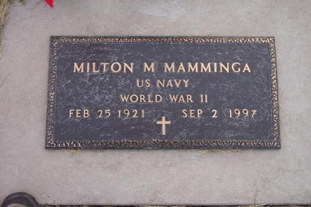 MAMMINGA, MILTON M. - Hamilton County, Iowa | MILTON M. MAMMINGA