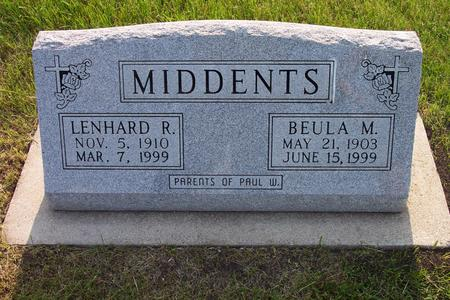 MIDDENTS, BUELA M. - Hamilton County, Iowa | BUELA M. MIDDENTS