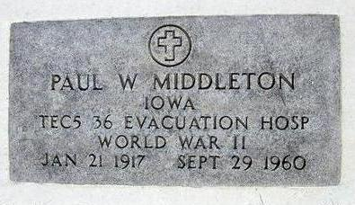 MIDDLETON, PAUL WILLIAM - Hamilton County, Iowa | PAUL WILLIAM MIDDLETON