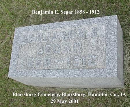 SEGAR, BENJAMIN E. - Hamilton County, Iowa | BENJAMIN E. SEGAR